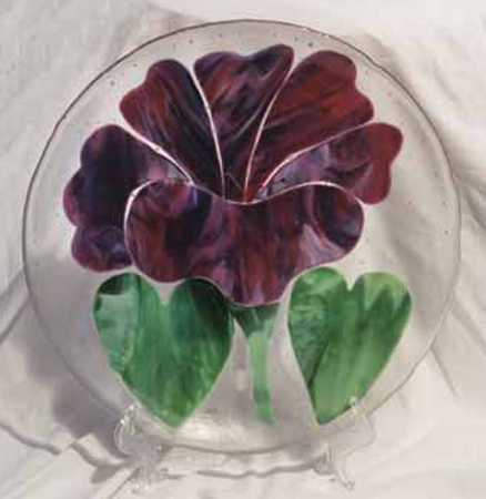 Purple Flower Plate