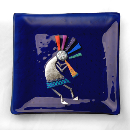 Kokopelli on Blue